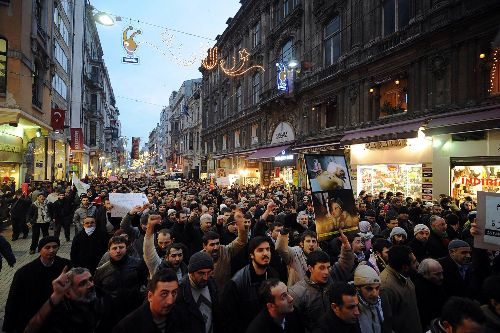 Taksim Turkey  city photos gallery : Turkey Protest for Gaza 27 December Istanbul Taksim » turkey istanbul ...
