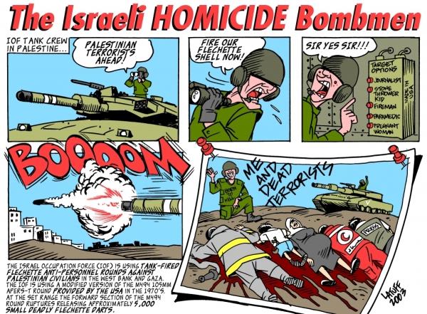 Israeli Hmoicide Bombmen By Carlos Latuff